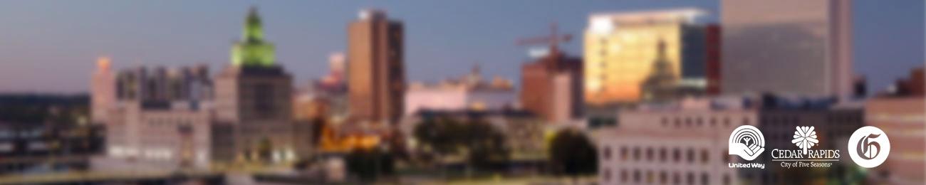 city of cedar rapids cityscape derecho, coronavirus
