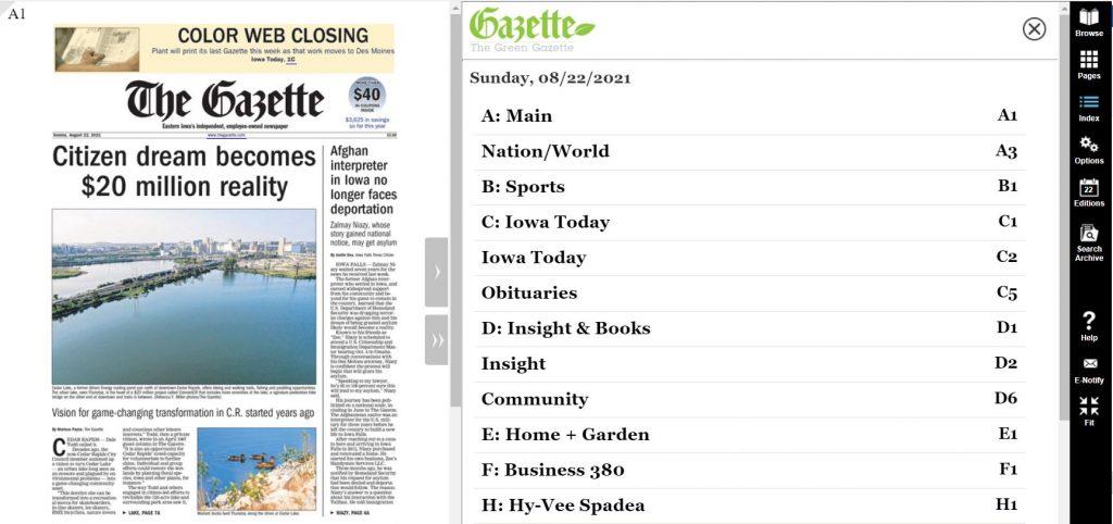 green gazette page
